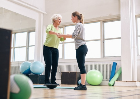 36042159 S Senior Woman Balance Therapy