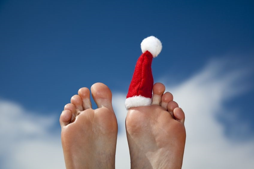 14840068 M Christmas Hat Holiday Feet