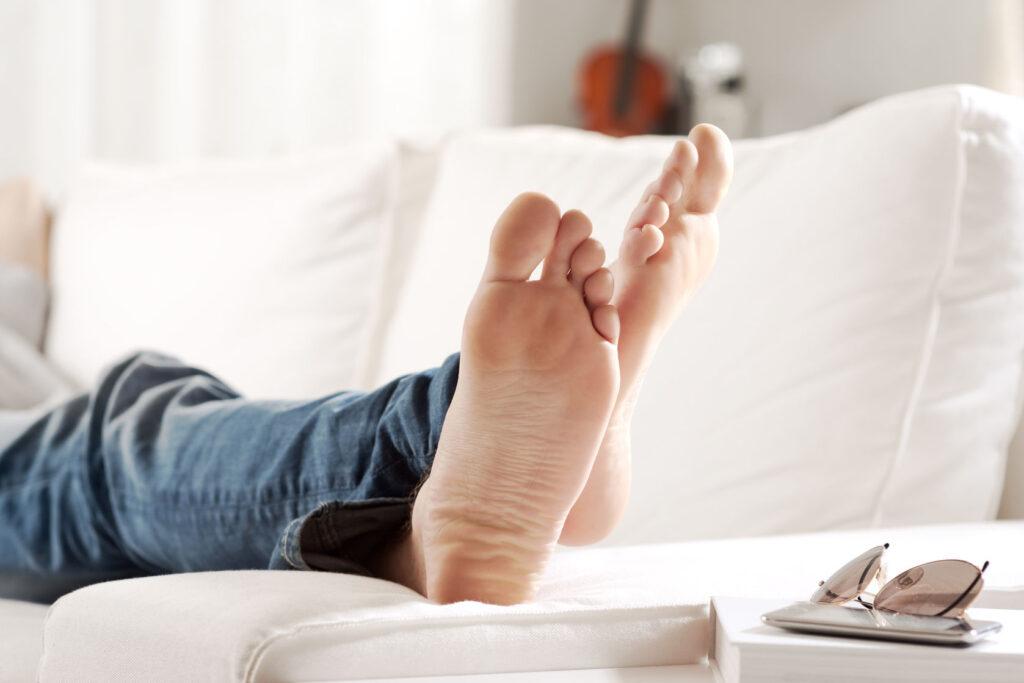 Relaxing Barefoot