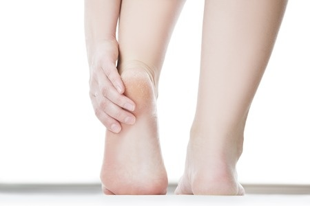 42300310 Massage Of Female Feet. Pedicures. Isolated On White Background.