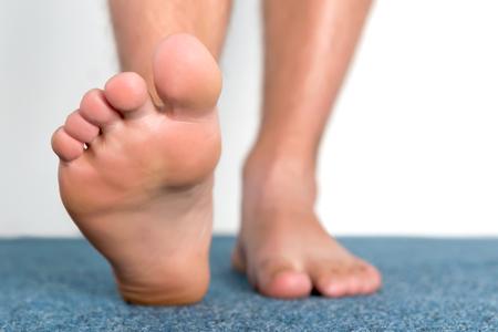 46471586 Healthy Male Feet Feeling Comfortable At Home.