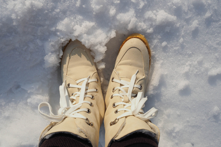 54406533 The Boots In Snow Winter