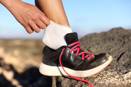 55645917 S Hiker Socks Changing Sneaker Runner Mountain Outside Jogger