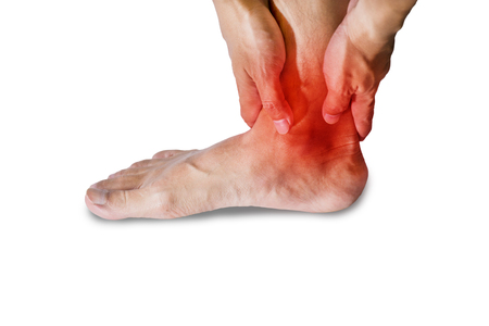 67060020 Ankle Pain In Men. Pain Concept